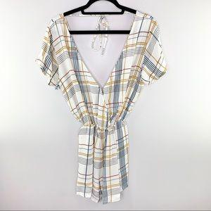 Gillia Checkered Romper Size XS